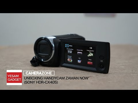 UNBOXING HANDYCAM ZAMAN NOW [+FOOTAGE ZOOM KE BULAN] (Sony HDR-CX405 - Camera Zone)