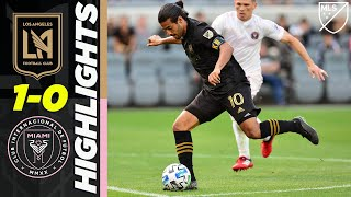 Lafc 1-0 Inter Miami Cf | Carlos Vela Chipped Goal & Beckham Is Back! | Mls Highlights