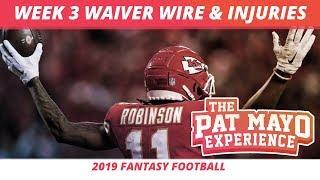 2019 Fantasy Football Rankings — Week3 Waiver Wire Pickups, RB Snap Counts, Injuries, Recap + More
