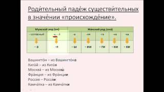 Бесплатный урок 33. Родительный падеж существительных в значении