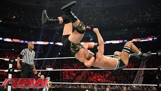 Cesaro vs. Jack Swagger - Raw, April 7, 2014