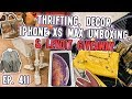 THRIFTING,  IPHONE XS MAX UNBOXING, DECOR & LEVOIT GIVEAWAY   VLOG EP. 411