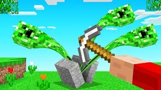 BREAKING BLOCK = +1 CREEPER SPAWN In Minecraft (out of control)
