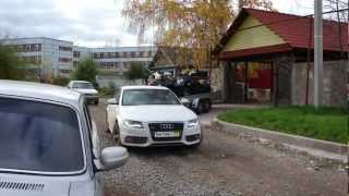 Audi A4 S-Line & trailer with ATVs.