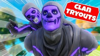 I let my LITTLE BROTHER tryout for my Fortnite clan...