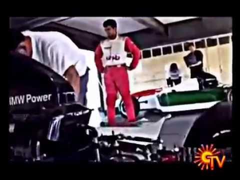 Thala Ajith in Formula one race with Mangatha BGM