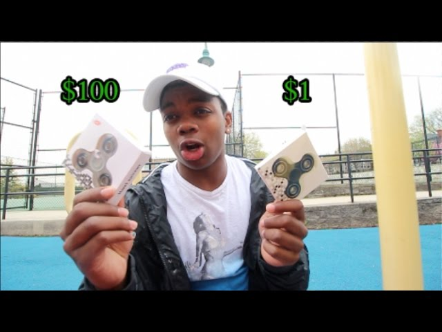 $1 FIDGET SPINNER VS $100 FIDGET SPINNER! (CRAZY TRICKS)