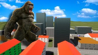 The Mighty King Kong Has Taking Over Lego City And Causing a Huge Disaster in Brick Rigs!