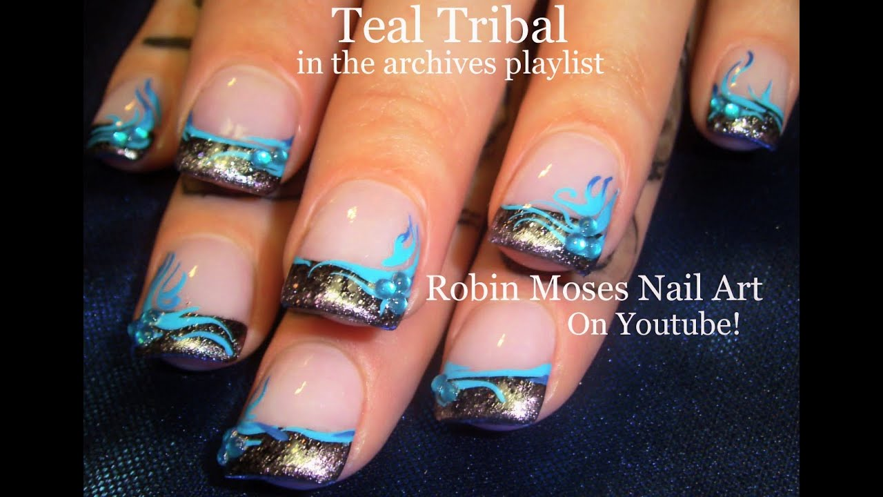 diy chrome tip nails easy tribal