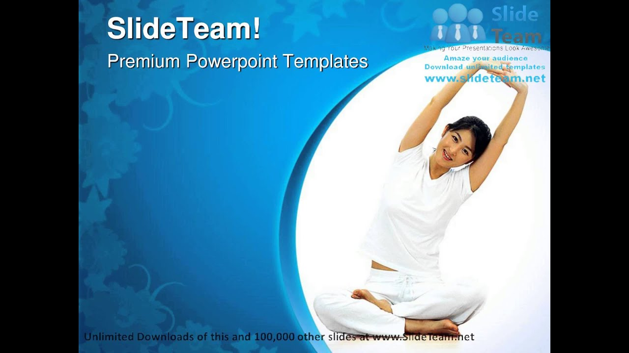 Yoga Exercise Health PowerPoint Templates Themes And