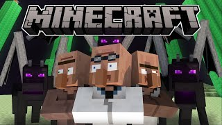 If Villagers And Enderdragons Switched Places - Minecraft Animation