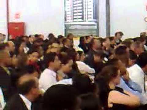 Ricardo Pires em discurso na Lopes Royal em Brasília.
