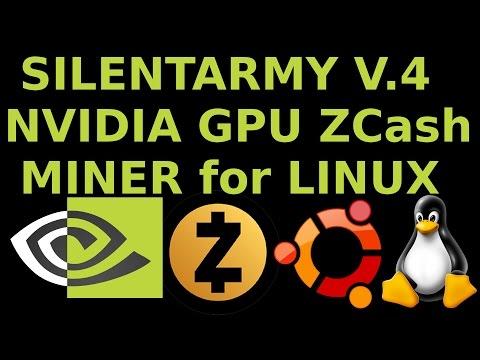 SilentArmy V4 Nvidia GPU ZCash Miner in Ubuntu Linux GTX 980ti ZClassic ZEC ZCL