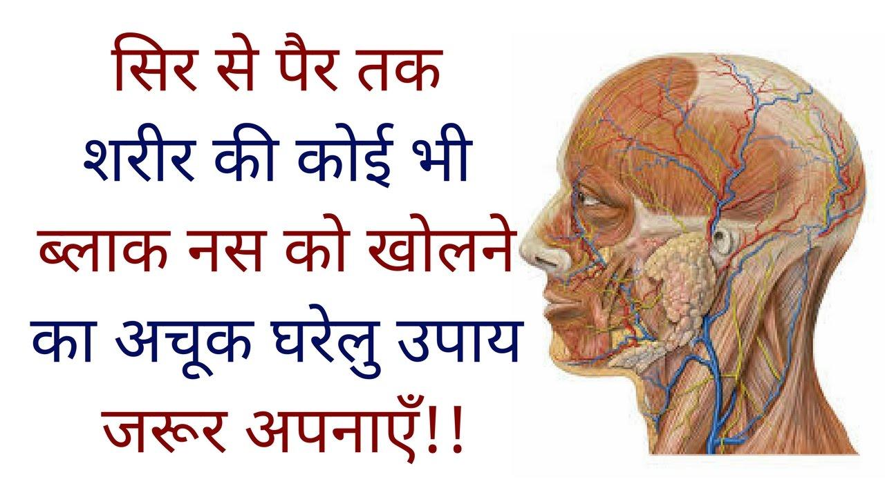 सिर से पैर तक शरीर की कोई भी ब्लाक नस को खोलने का अचूक घरेलु उपाय  !! Block  nashon ko kholne ka upay