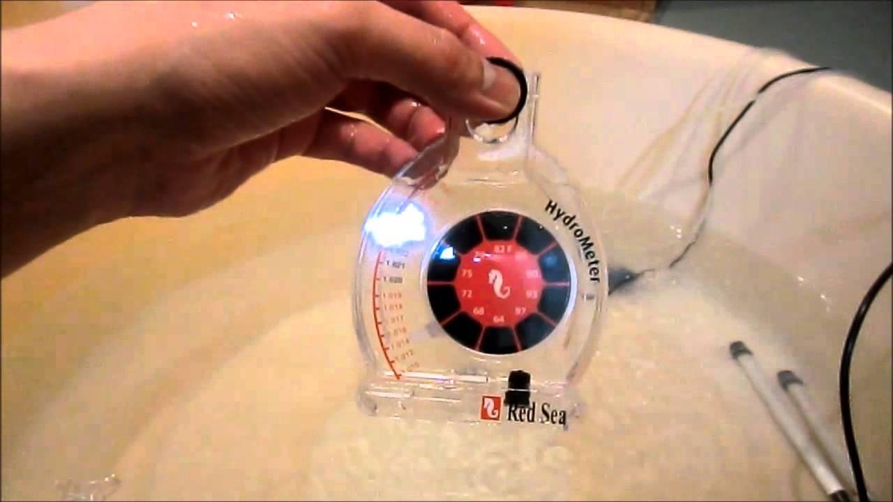 海水の比重計 メーター式 - YouTube