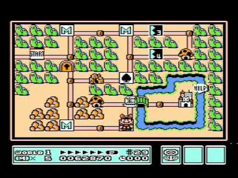 Super Mario Bros  3 (NES) - World 1 Tricks, Shortcuts, Secrets and More  (Including the Coin Ship)!