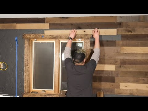 How to cut odd shaped pieces for a wood plank feature wall for beginners