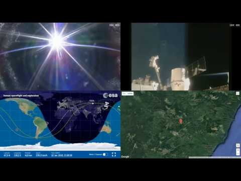 Orbital Sunrise Over Asia - ISS Space Station Earth View LIVE NASA/ESA Cameras And Map - 27