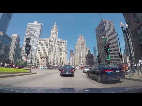 Chicago Dash Cam - South Loop to Mag Mile to Gold Coast