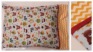 EASIEST Pillowcase - Only Three Seams | How to - Whitney Sews