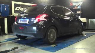 Reprogrammation Moteur Peugeot 208 hdi 92cv @ 128cv Digiservices Paris 77183 Dyno