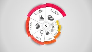 How to make creative pie chart in Microsoft PowerPoint. PPT tricks.