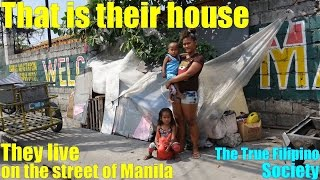 Meet this Poor Filipino Family Who Live on The Street. Homeless Filipino Family Living in Poverty