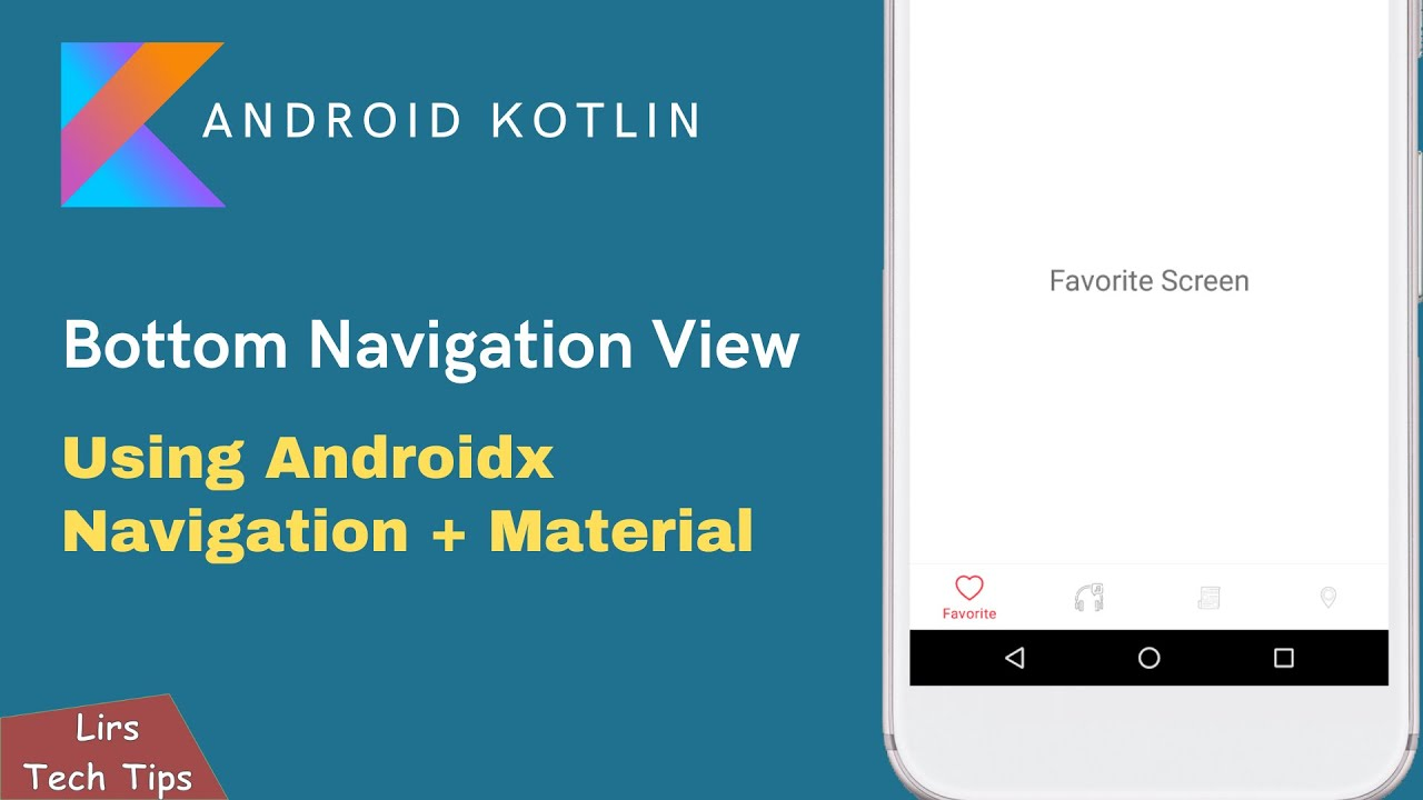 Android Kotlin: Bottom Navigation View | Using Androidx Navigation + Material