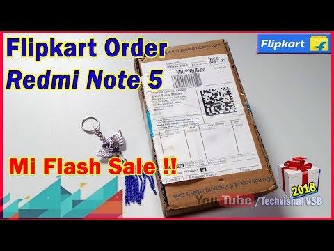 Flipkart Delivery & Unboxing Redmi Note 5 2018 | Flipkart Xiaomi Redmi Note 5 (3GB RAM)