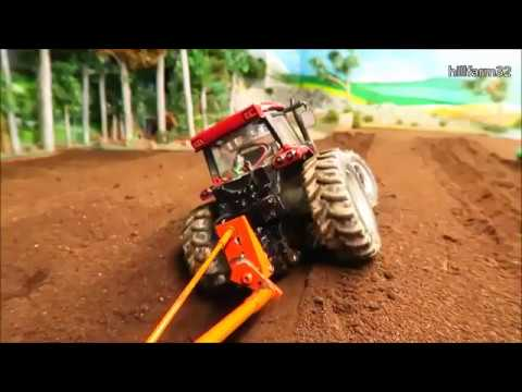 Rc Tractor at work on the farm / Fun with model vehicles & farm machinery