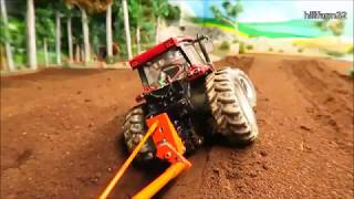 Rc Tractor Action - DEEP PLOUGHING - on the Farm - Rc Toy Fun
