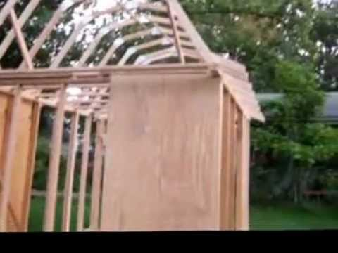 How To Build The Trusses For A Gambrel Roof Como