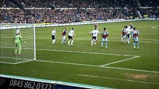 Callum Ball Gets Booted In The Face Vs West Ham 31/12/11