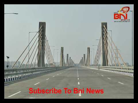 Narmada River New Cables Bridge Of Bharuch