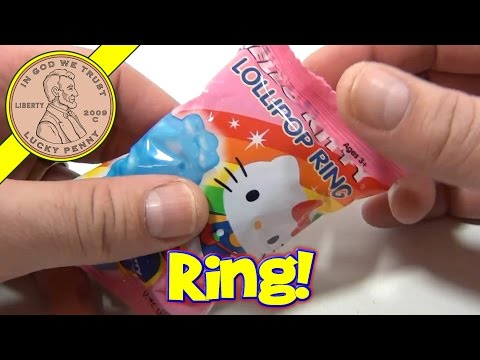 Hello Kitty Blue Raspberry Lollipop Ring Pop Candy Review
