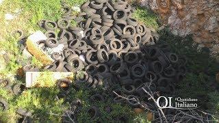 Amianto a fuoco a Grumo. Centinaia di pneumatici nel vecchio sito AQP