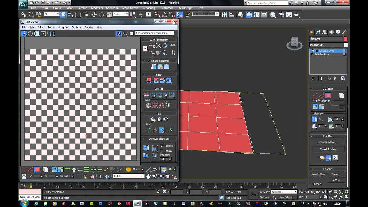 3ds max 2012 ders 61 material editor unwrap modifieri for 3d editor online