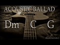 D  Ballad Backing Track Instrumental melodious mellow sad ballad