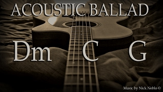 Emotional Acoustic Guitar Ballad Backing Track