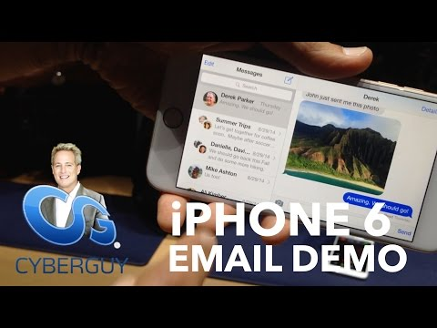 iPhone6 Plus Email Demo at the Apple Launch Event