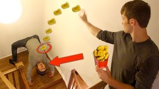 IMPOSSIBLE CHICKEN NUGGET TRICK SHOTS