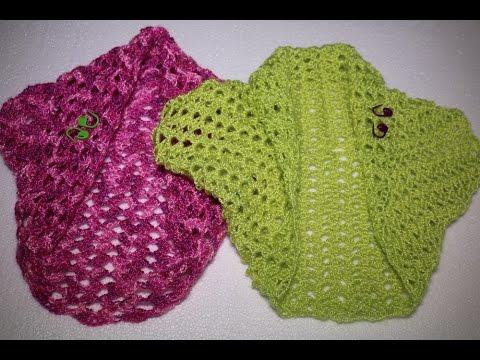 Como Hacer Una Torera O Bolero En 3 Pasos En Crochet Youtube