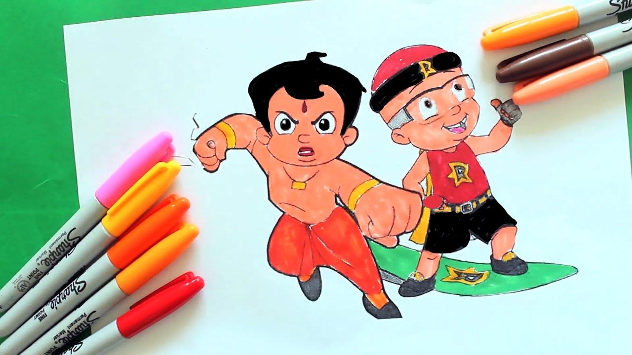 Chhota Bheem Mighty Raju Coloring Page | Coloring Chhota Bheem ...