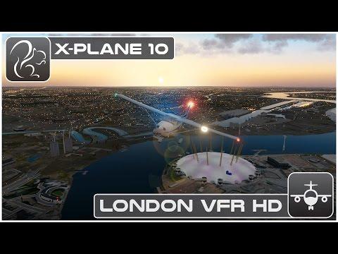 X-Plane 10 London VFR Flight HD (London City to Heathrow)