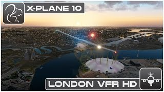X-Plane 10 London VFR Flight HD (London City to Heathrow)