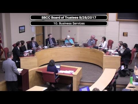 SBCC Board of Trustees 9/28/2017
