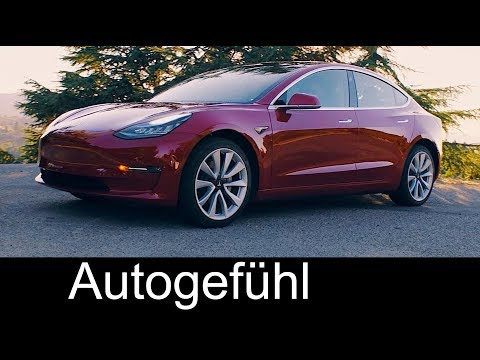 Thumbnail: Tesla Model 3 Preview Exterior & Elon Musk presentation handover - Autogefühl