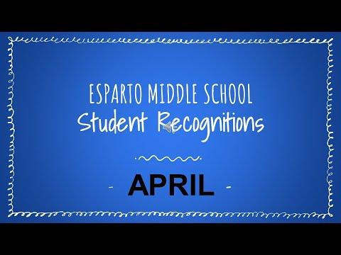 Esparto Middle School April Virtual Assembly