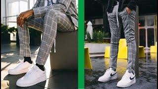 10 Outfits De Hombre Con Pantalon Gris De Cuadros Youtube