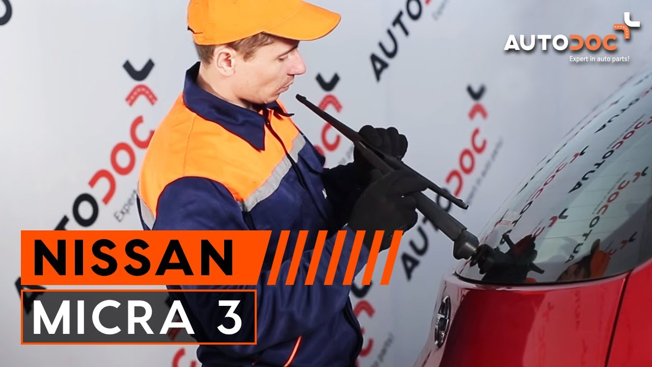 How to replace rear wipers blades nissan micra 3 tutorial autodoc